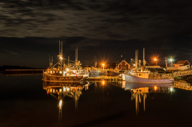 Yarmouth, Fishing, Nova Scotia, Canada, Canadian Art, Art, Fine Art, night photography