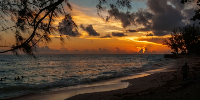 Barbados, photograph, beach, wood, drift wood, coastal, Garvin Art, Garvin Hunter Photography, photoblog, photography blog, Garvin blog, art for sale, sunset, light, clouds, reflection